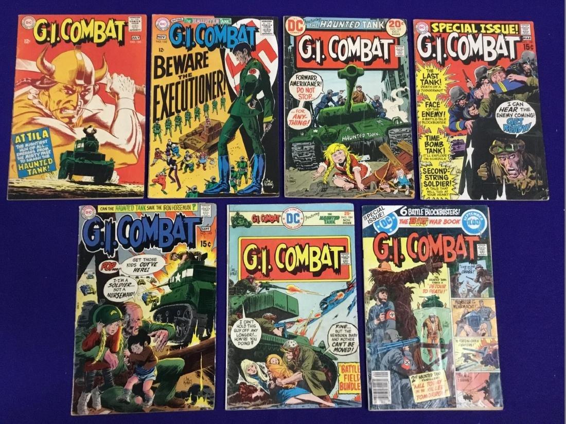 Lot of Seven GI Combat Comics no.