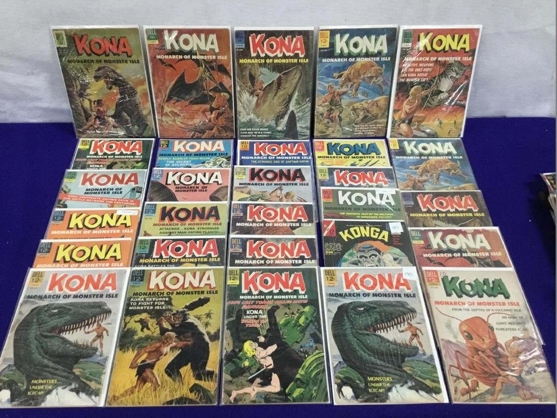 29 Issues of Dell Kona Monarch of Monster Isle