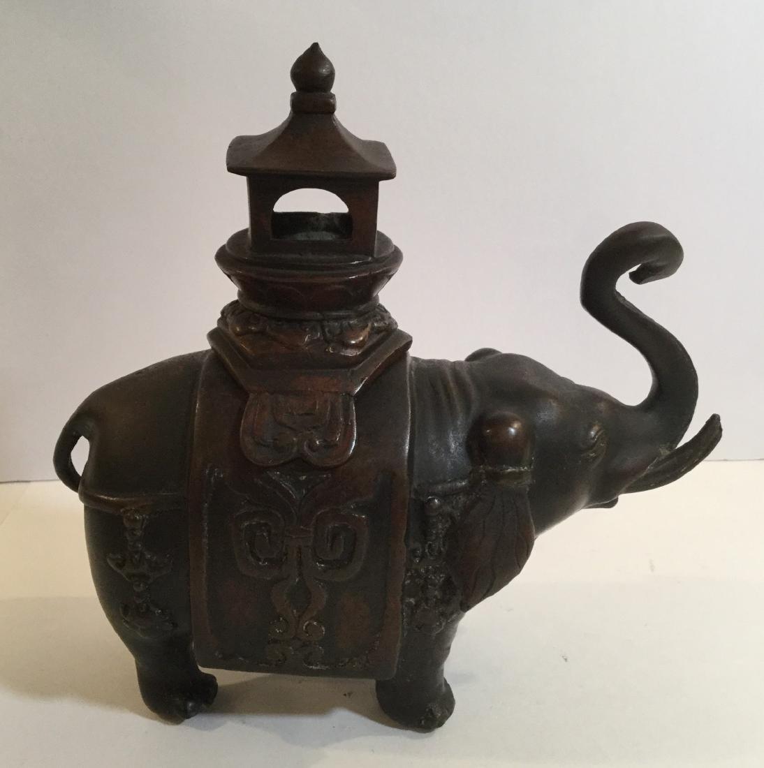 19th century Chinese Bronze Elephant Form Censer