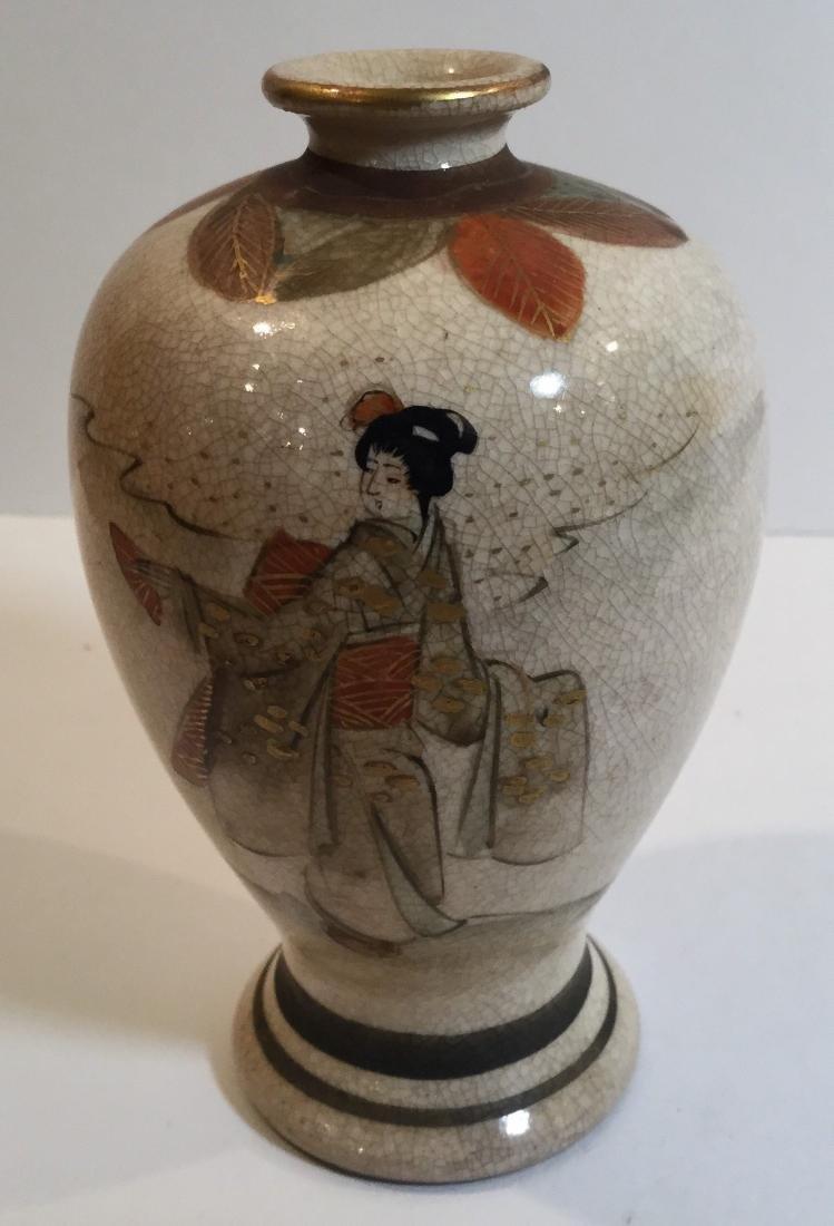 Two Japanese Satsuma Porcelain Pieces - 2