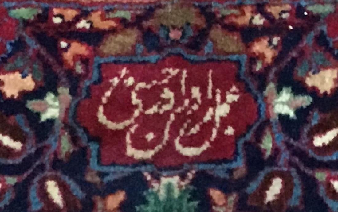 Large Signed Antique Mashad Carpet - 4