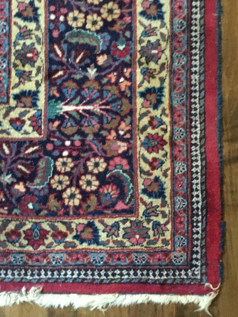 Large Signed Antique Mashad Carpet - 5
