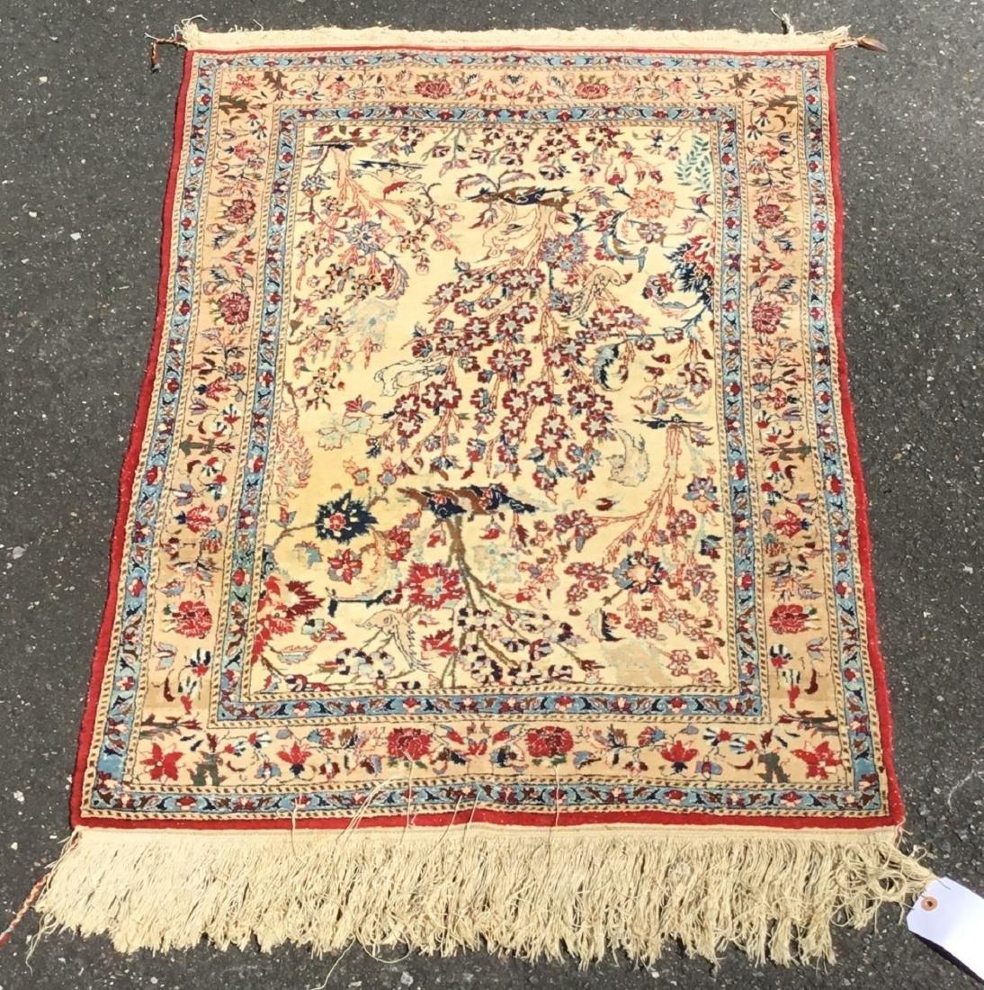 Semi-Antique Persian Isfahan area rug, circa mid-20th