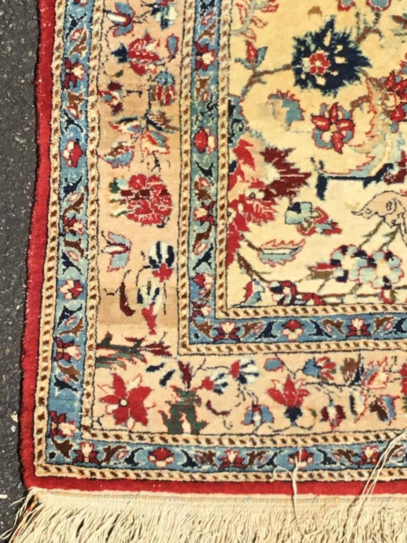 Semi-Antique Persian Isfahan area rug, circa mid-20th - 3