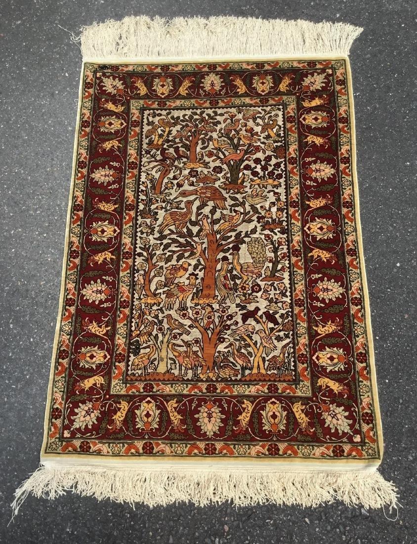Semi-Antique Turkish Souf Hereke Silk & Metallic Thread