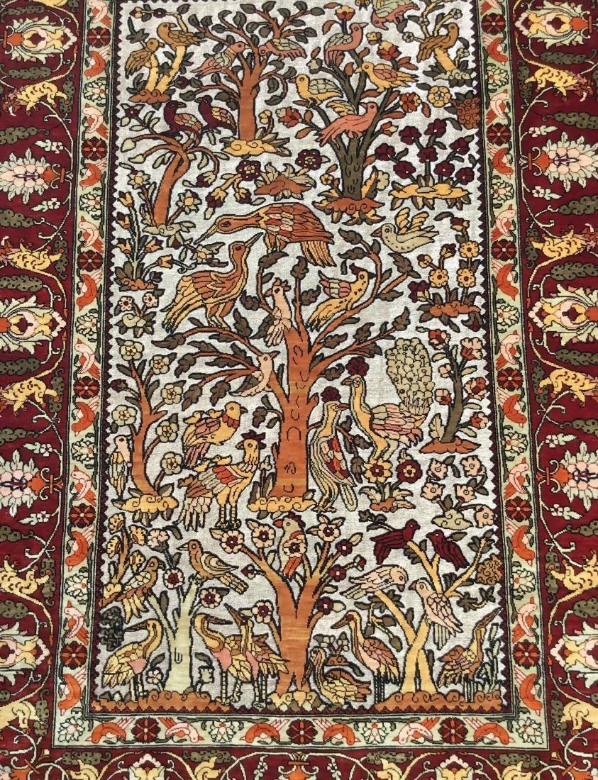 Semi-Antique Turkish Souf Hereke Silk & Metallic Thread - 2
