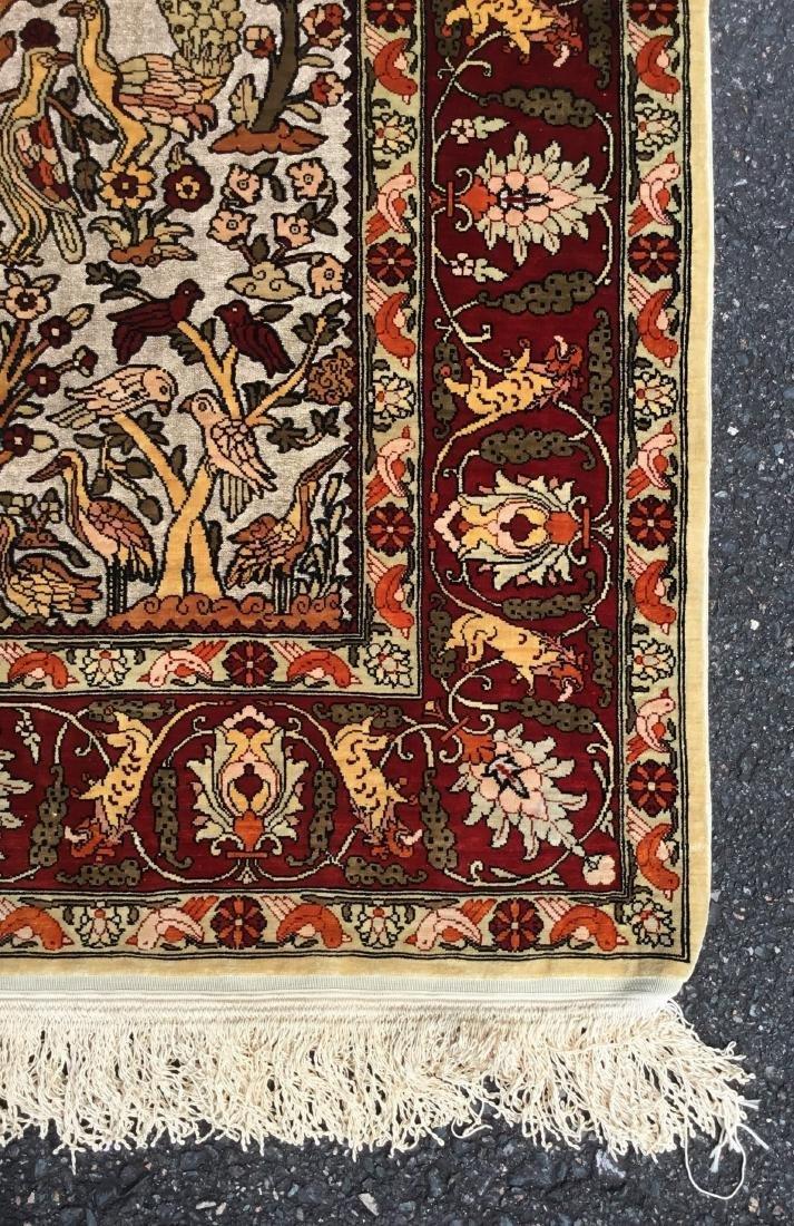 Semi-Antique Turkish Souf Hereke Silk & Metallic Thread - 3