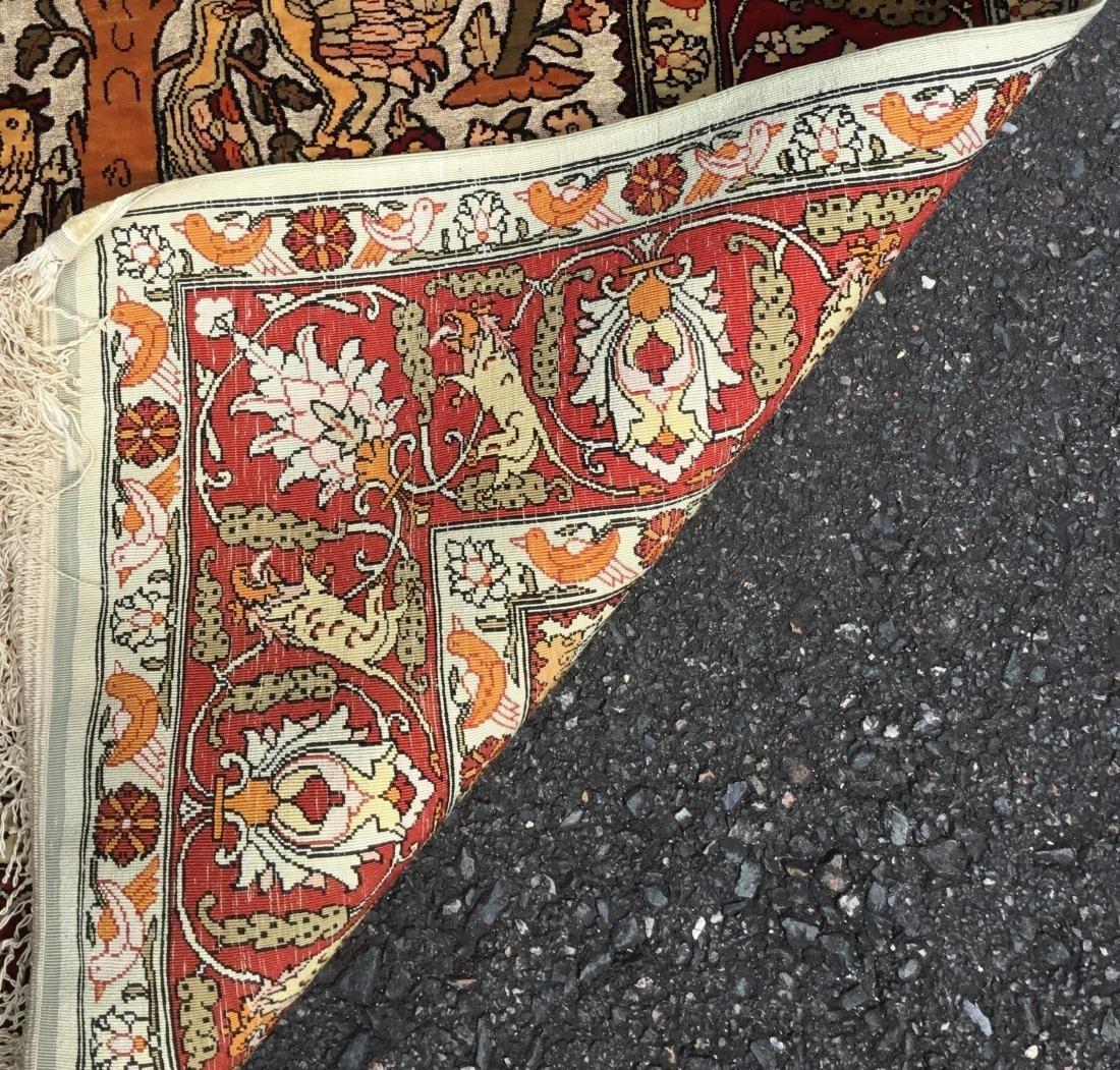 Semi-Antique Turkish Souf Hereke Silk & Metallic Thread - 4