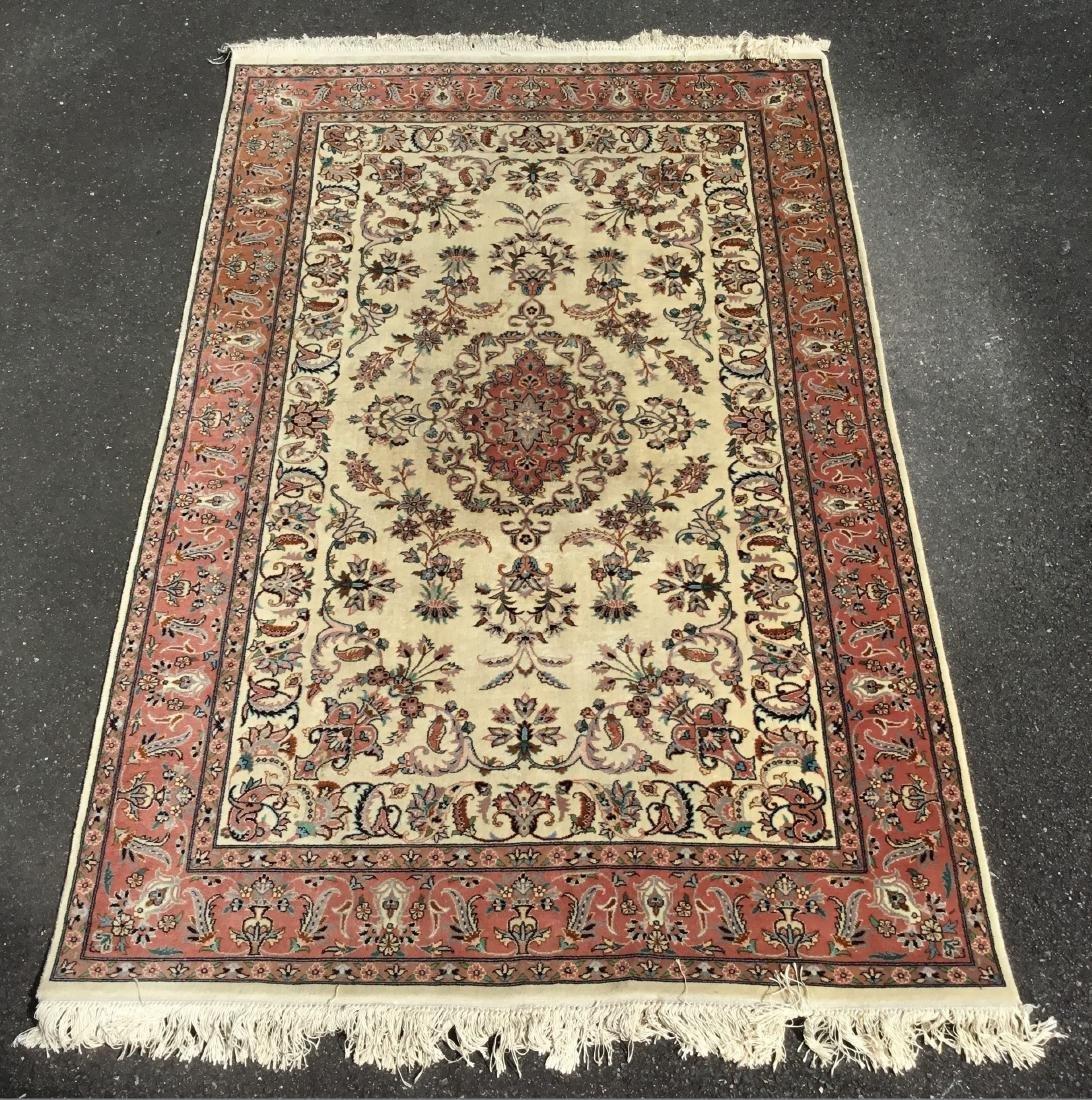 Semi-Antique Persian Nain, circa mid-20th century
