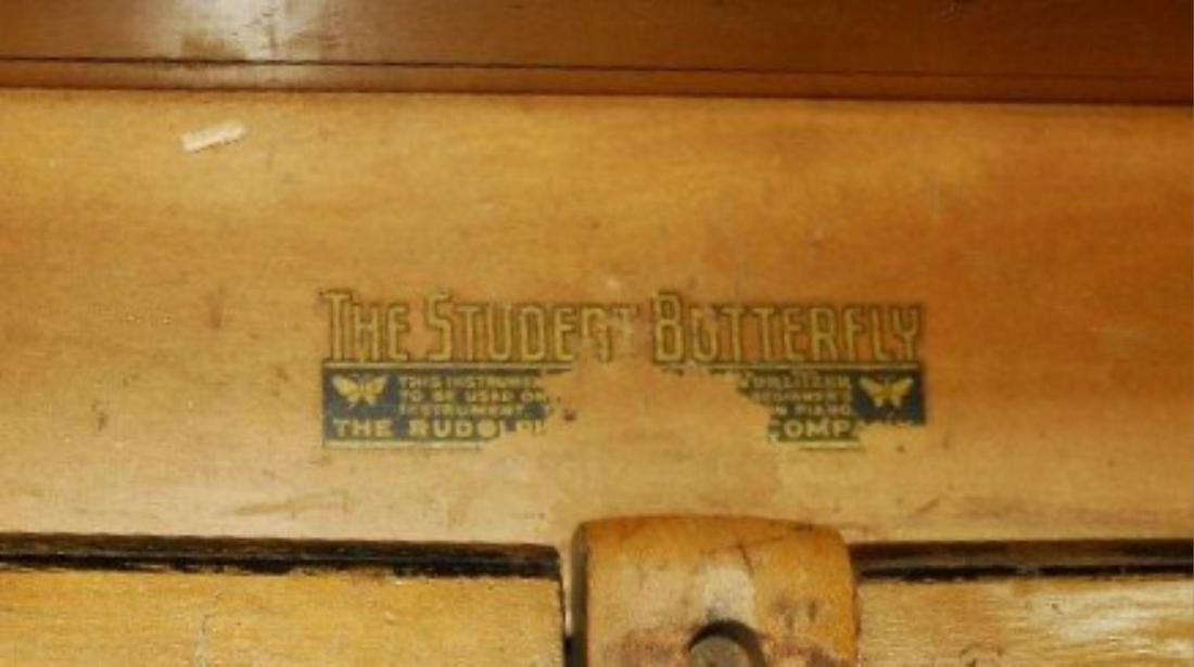 Rudolph Wurlitzer Co. Student Butterfly Piano - 4