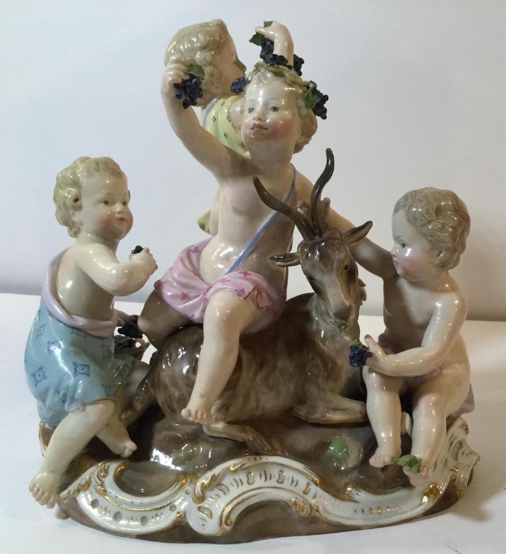 19 th  Century Meissen Porcelain Bacchanal Figural