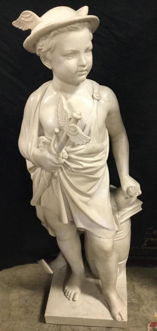 Marble Sculpture of Young Mercury, unsigned.