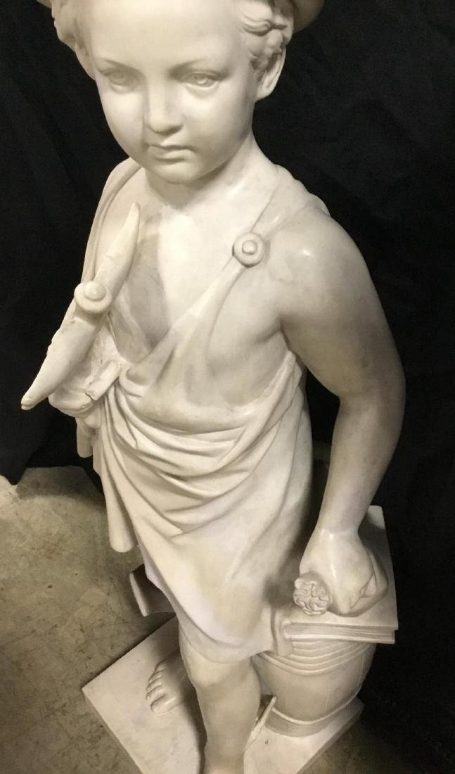 Marble Sculpture of Young Mercury, unsigned. - 2