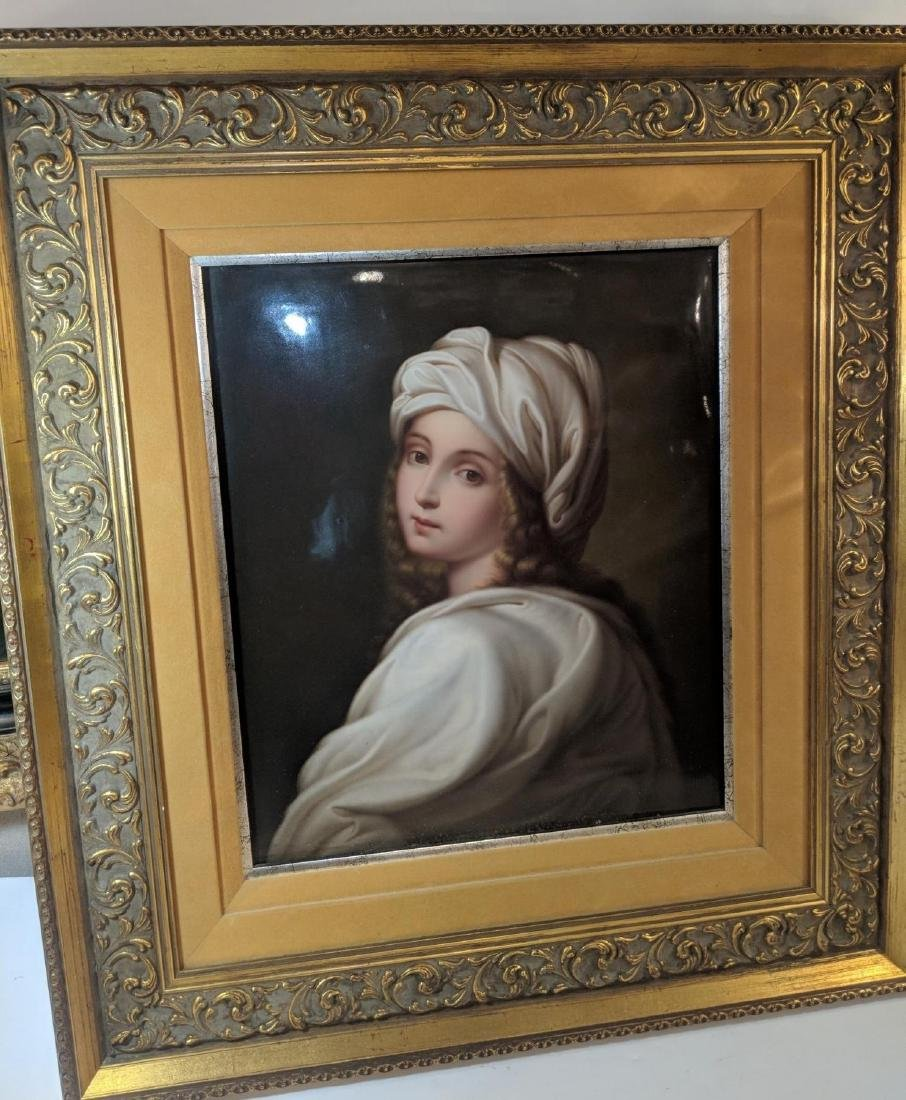 Large 19th C KPM Porcelain Plaque Portrait of Sybil