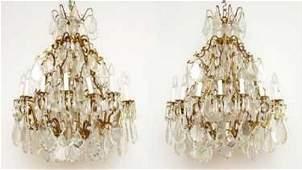 Fantastic Pair of 19 th Century Louis XV Bronze and