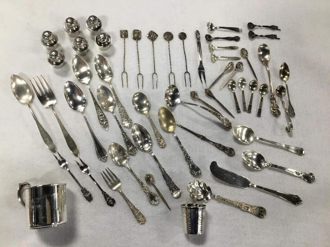 Lot of 52 Pieces of Misc Sterling Silver