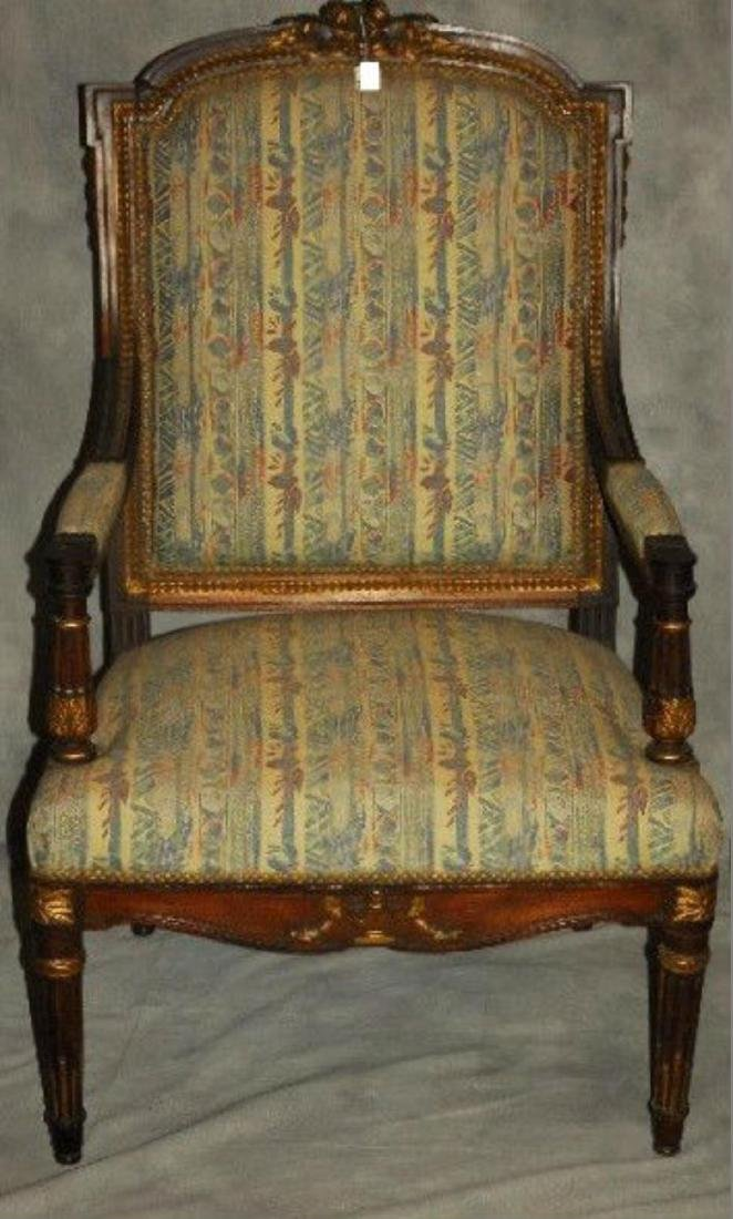 Pair of 19 th  Century Louis XVI Carved and Partial - 2