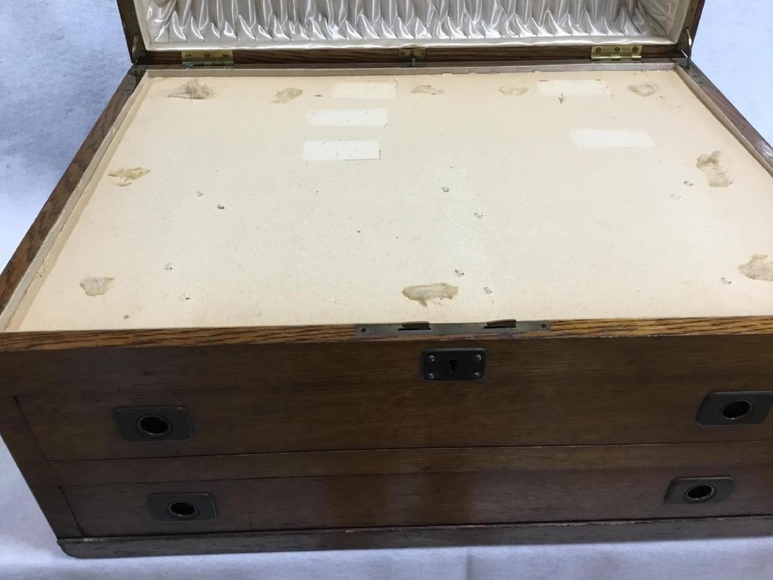 Antique Oak Silver Chest - 4