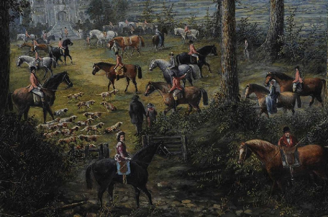 H. V. S. Seymour, American (NY) 1876 Oil on Canvas - 2
