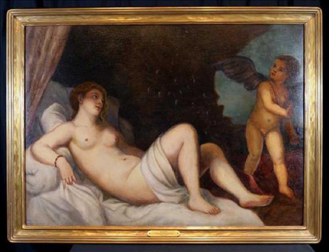 Tiziano Vecellio (Titian), Venice 1485-1576, Danae O/C