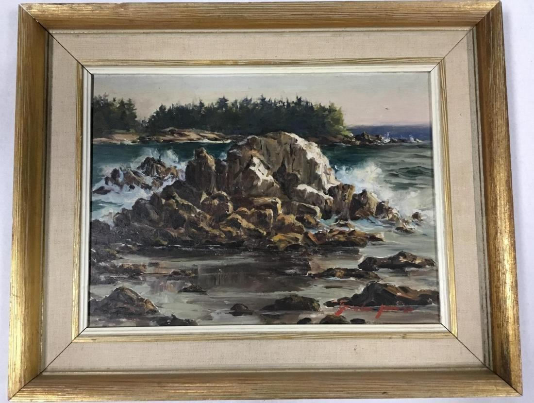 Sandra James, American 20 th  Century, Rocky Coast in