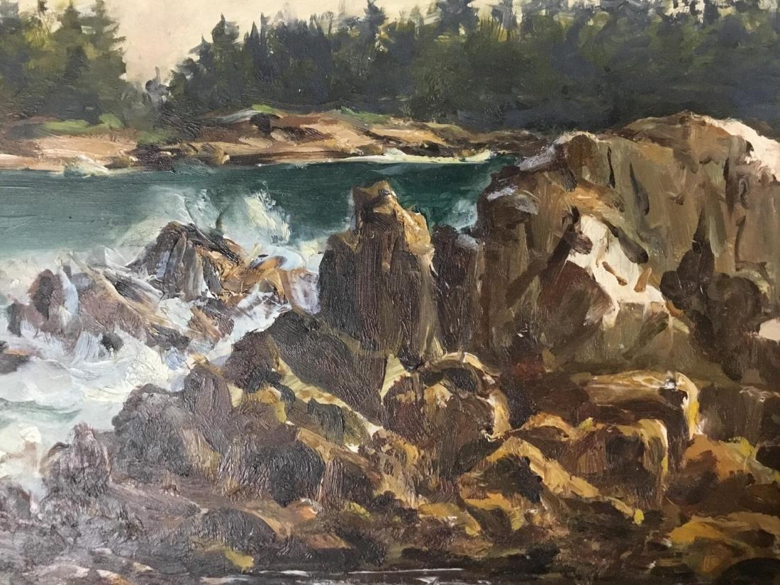 Sandra James, American 20 th  Century, Rocky Coast in - 2