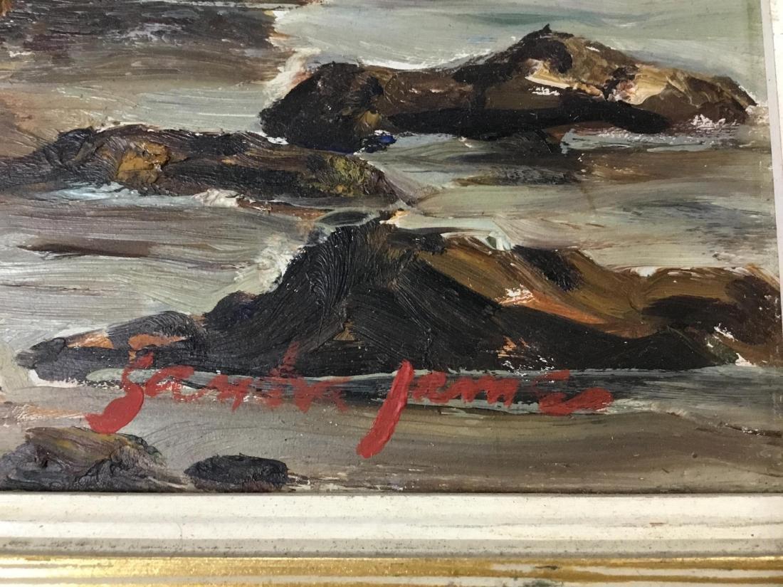Sandra James, American 20 th  Century, Rocky Coast in - 3