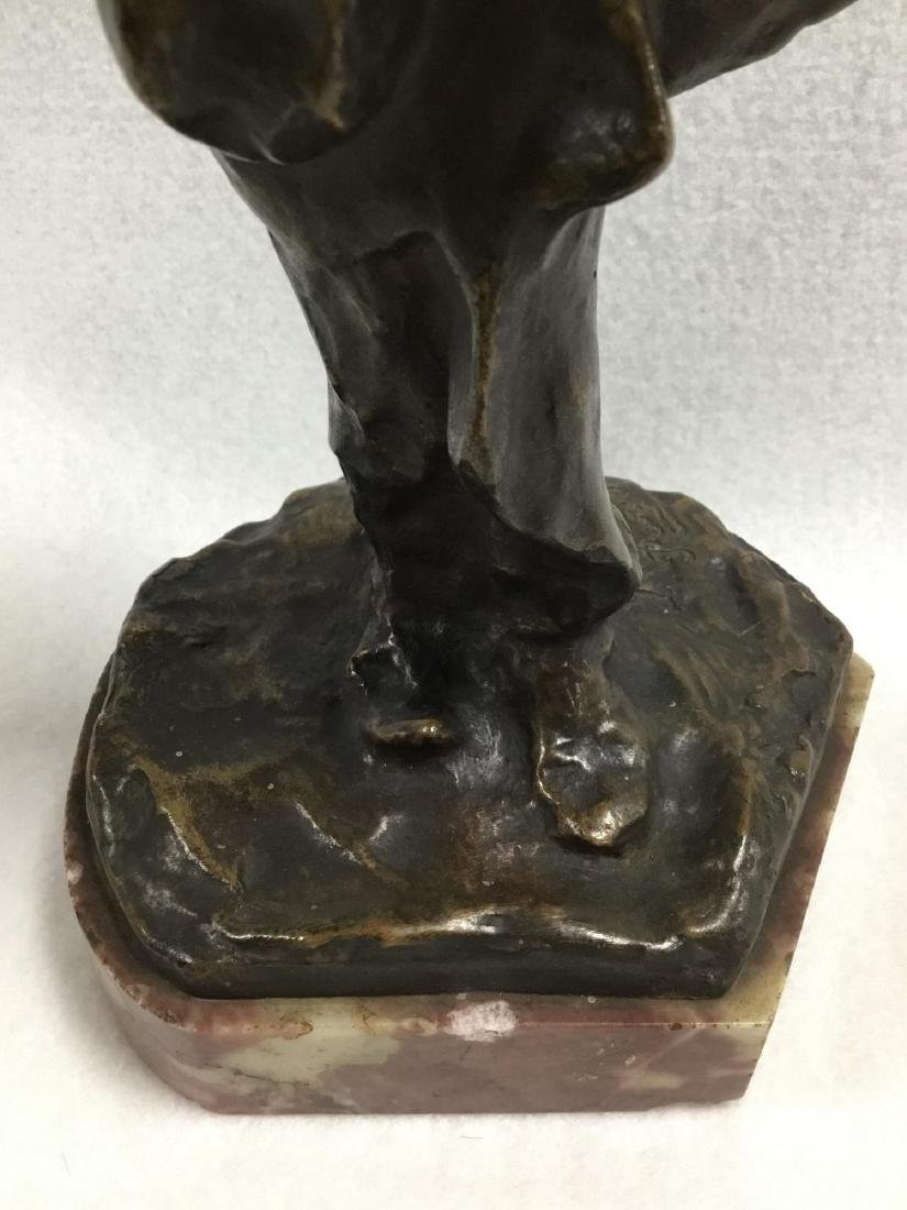 Early 20 th  Century Parisian Bronze Sculpture, Signed - 4