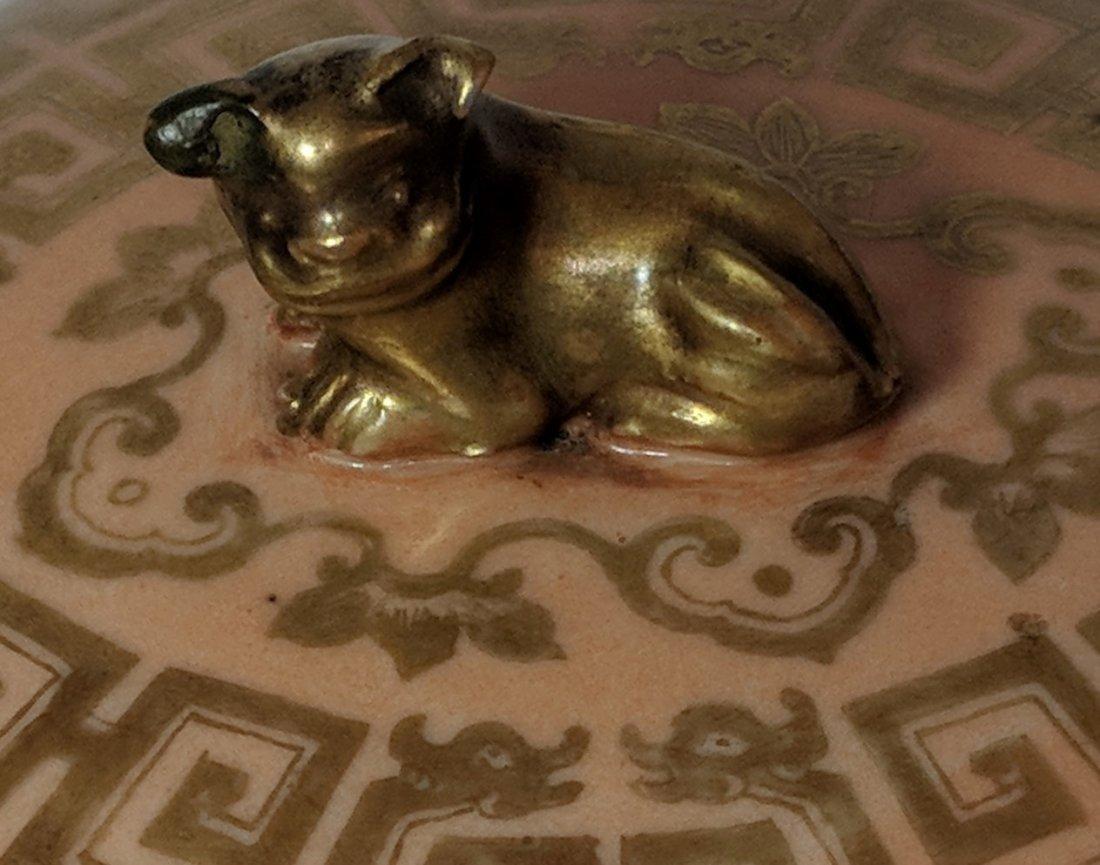 Chinese Qianglong Gilt Decorated Porcelain Hexagonal - 3
