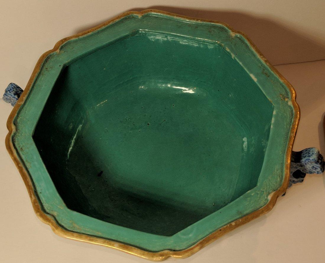 Chinese Qianglong Gilt Decorated Porcelain Hexagonal - 5