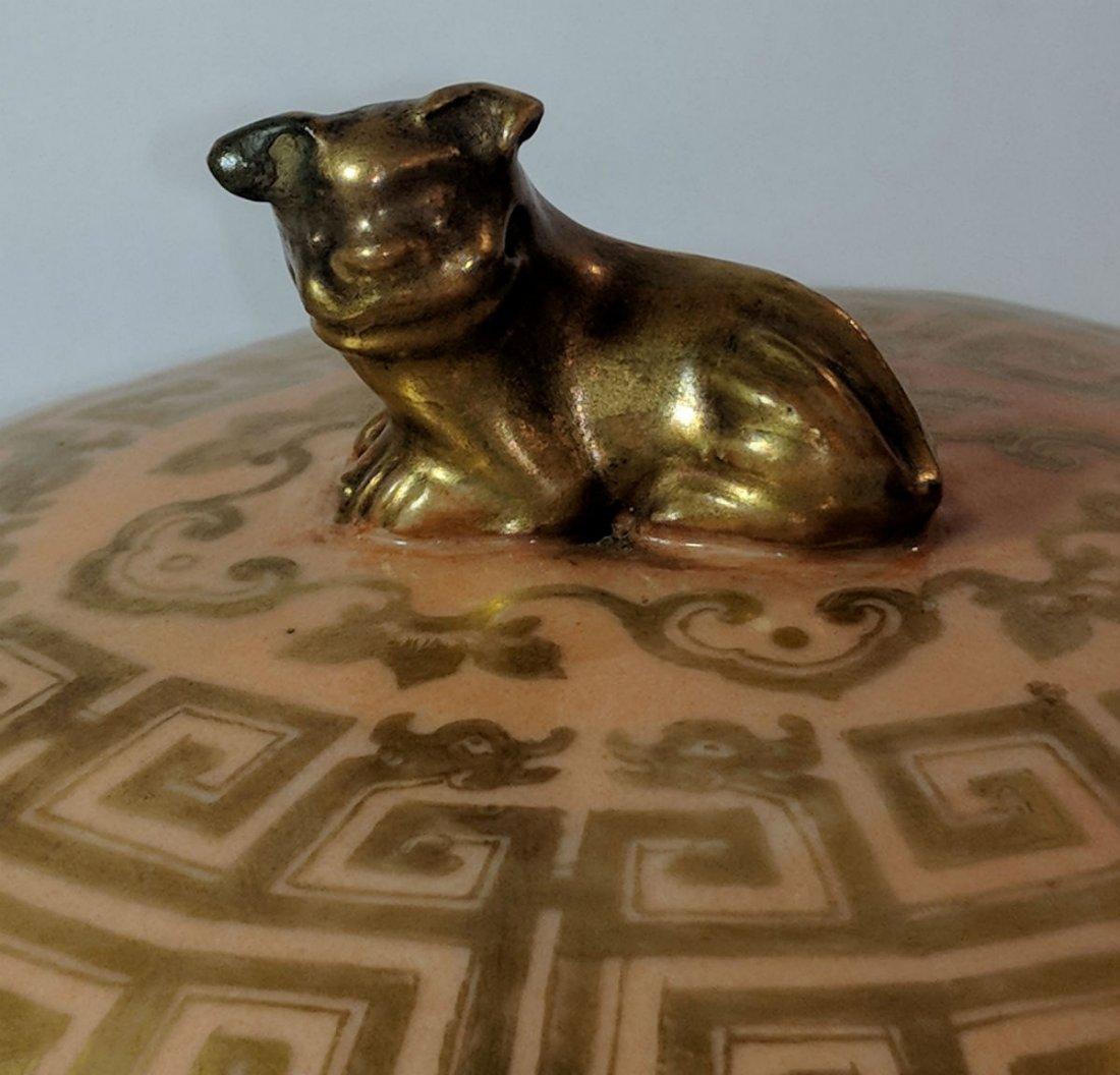 Chinese Qianglong Gilt Decorated Porcelain Hexagonal - 6