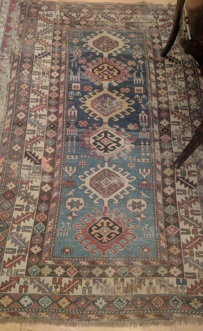 Antique Caucasian Shirvan Rug, 2nd half 19th Century
