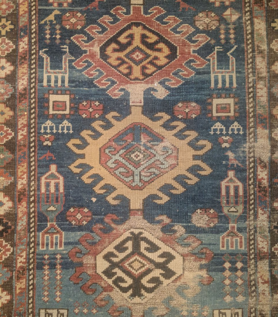 Antique Caucasian Shirvan Rug, 2nd half 19th Century - 3