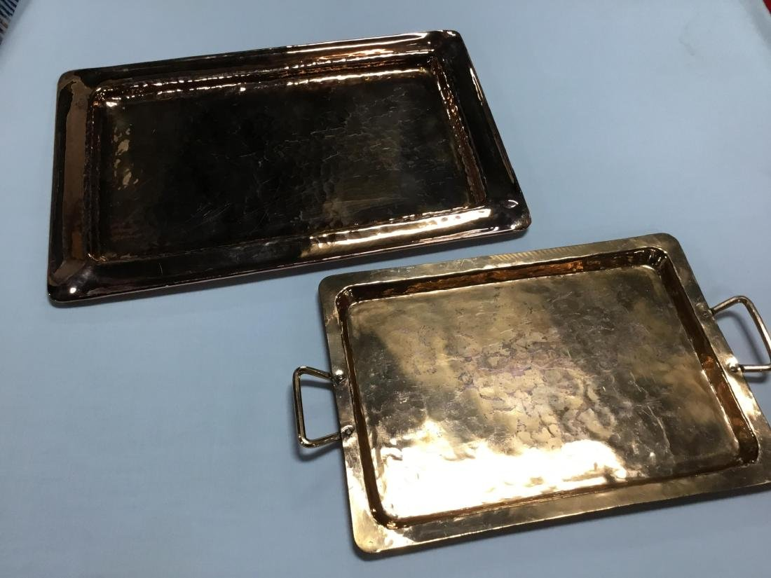 2 Hammered Copper Trays