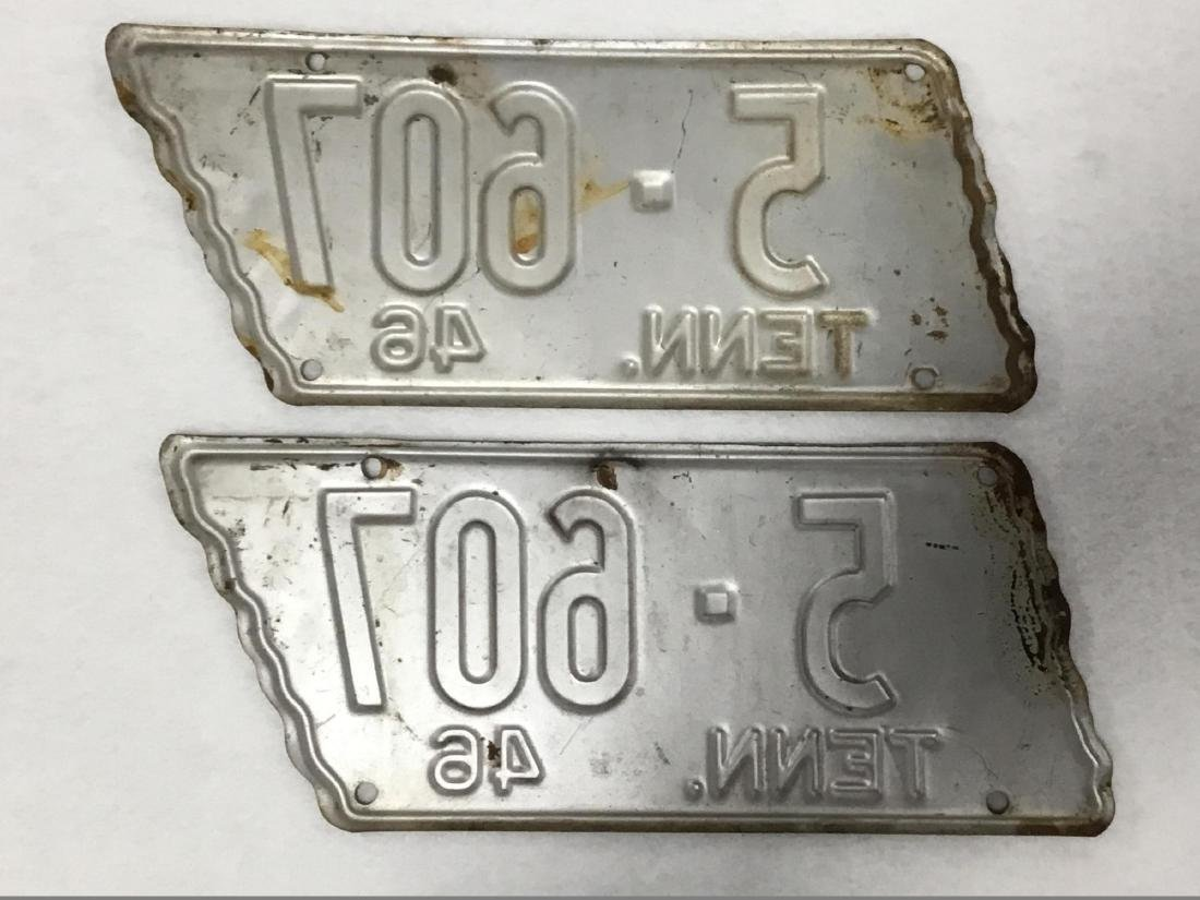Pair of 1946 Tennessee License Plates - 2