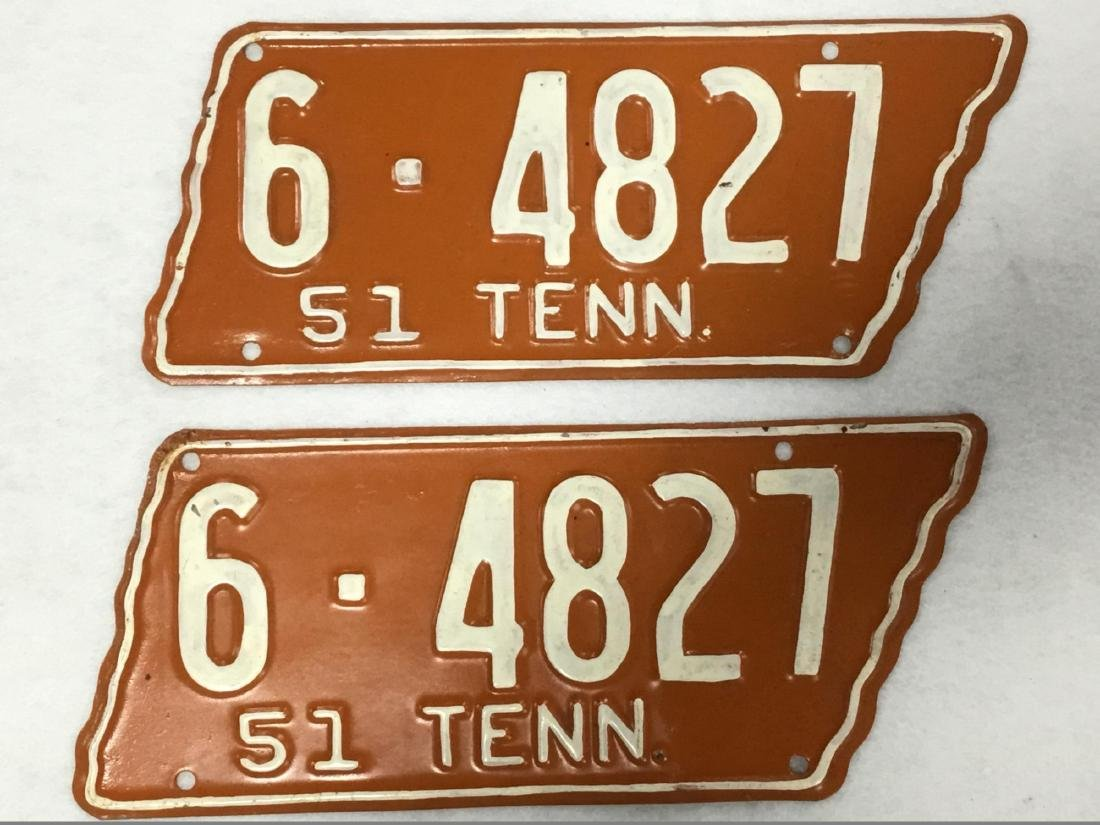 Pair of 1951 Tennessee License Plates