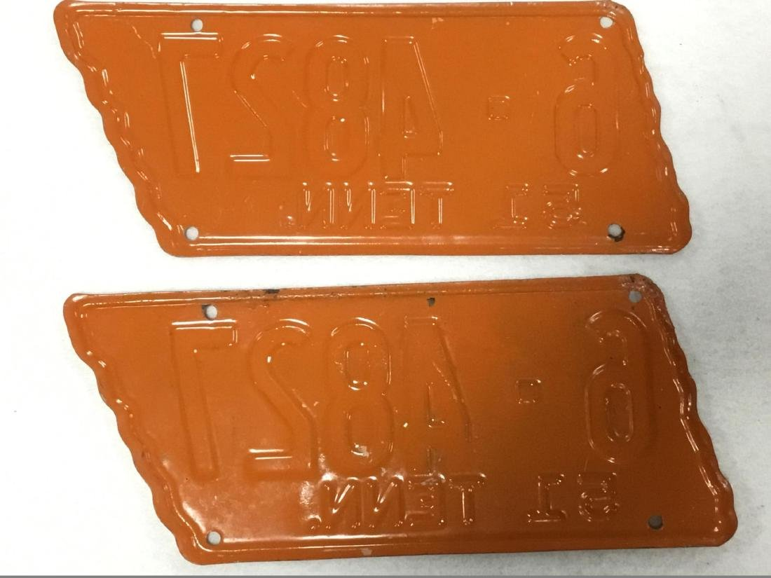 Pair of 1951 Tennessee License Plates - 2