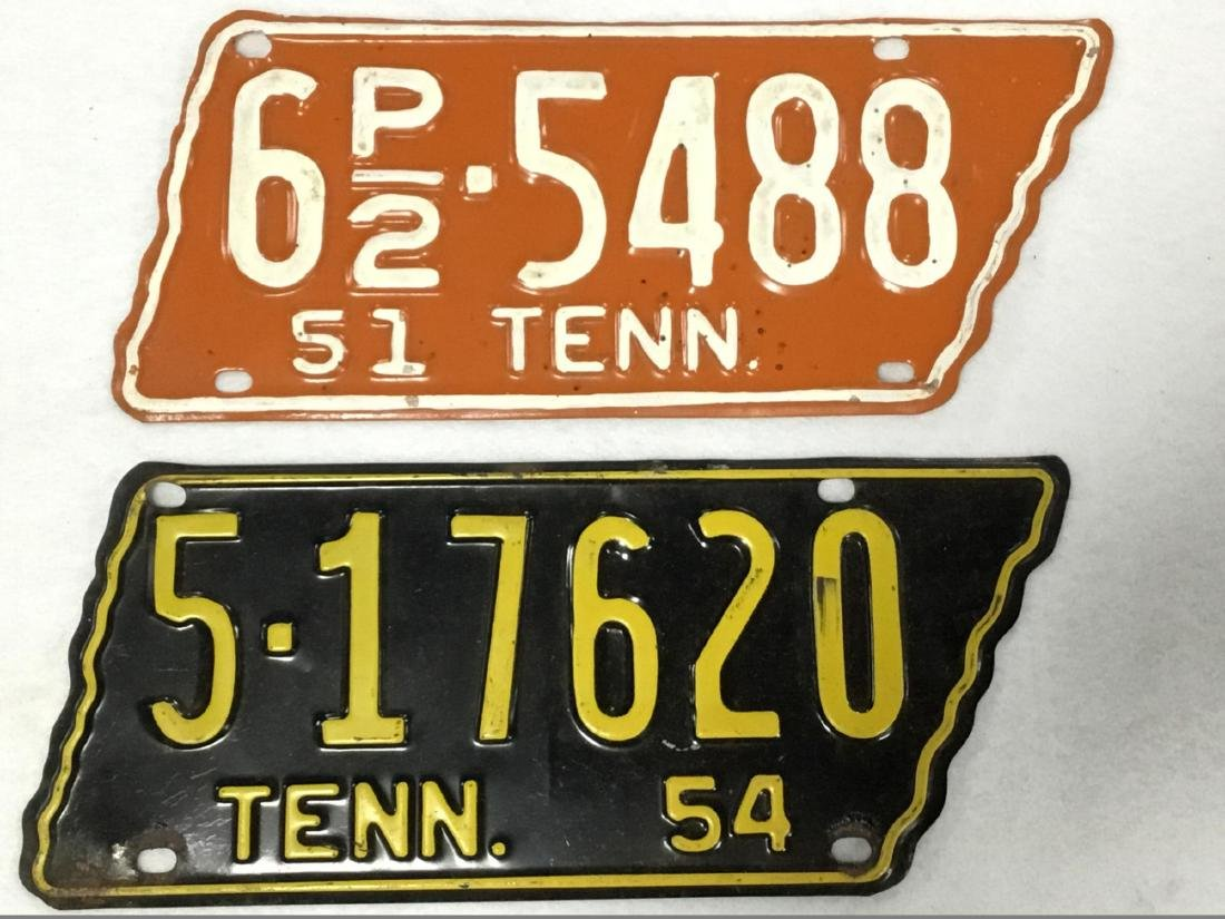 Lot of 2 Tennessee License Plates