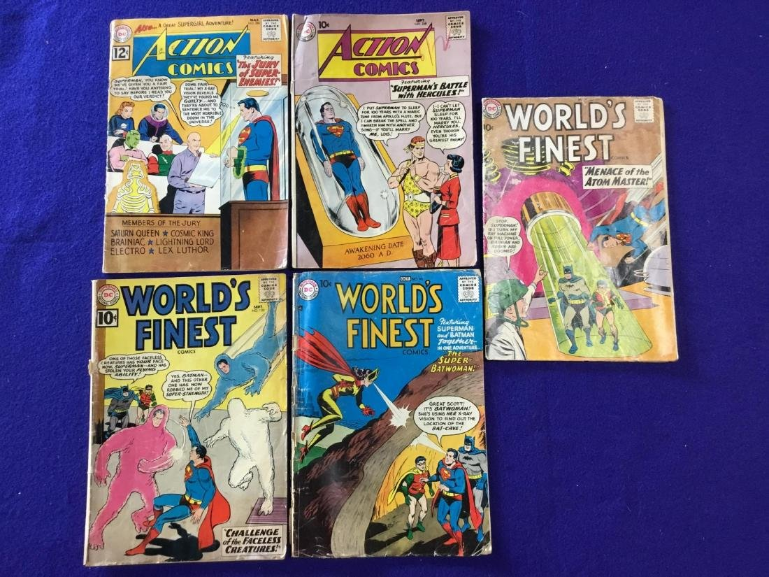Lot of 5 Worlds Finest and Action Comics