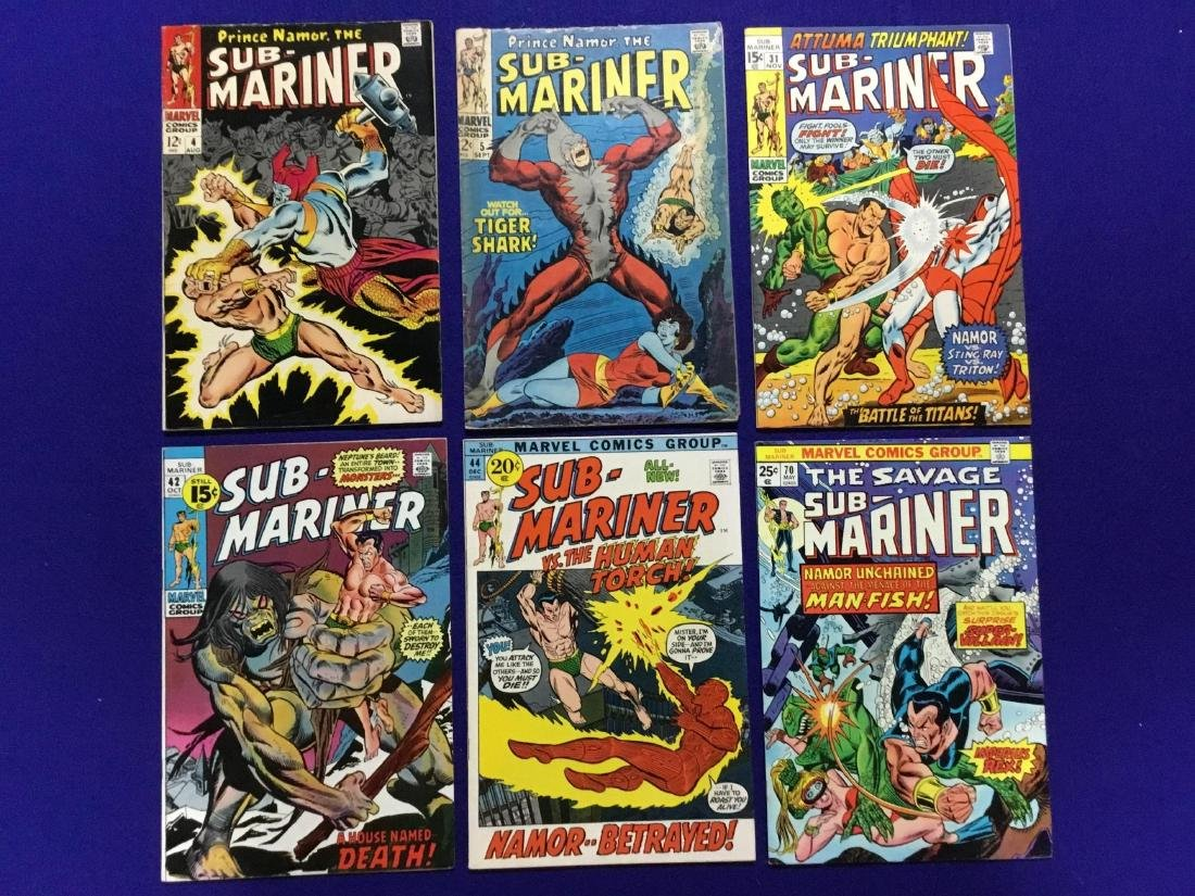 Lot of 6 Issues of Submariner