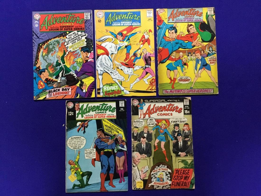 Lot of 5 Adventure Comics