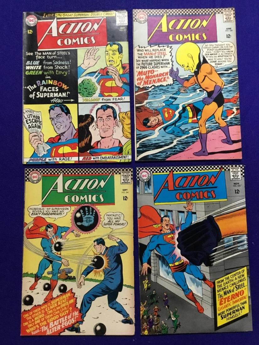 Lot of 4 Action Comics