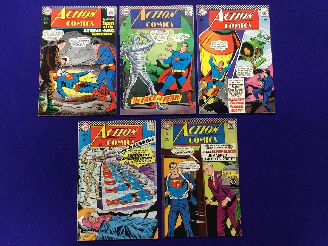 Lot of 5 Action Comics