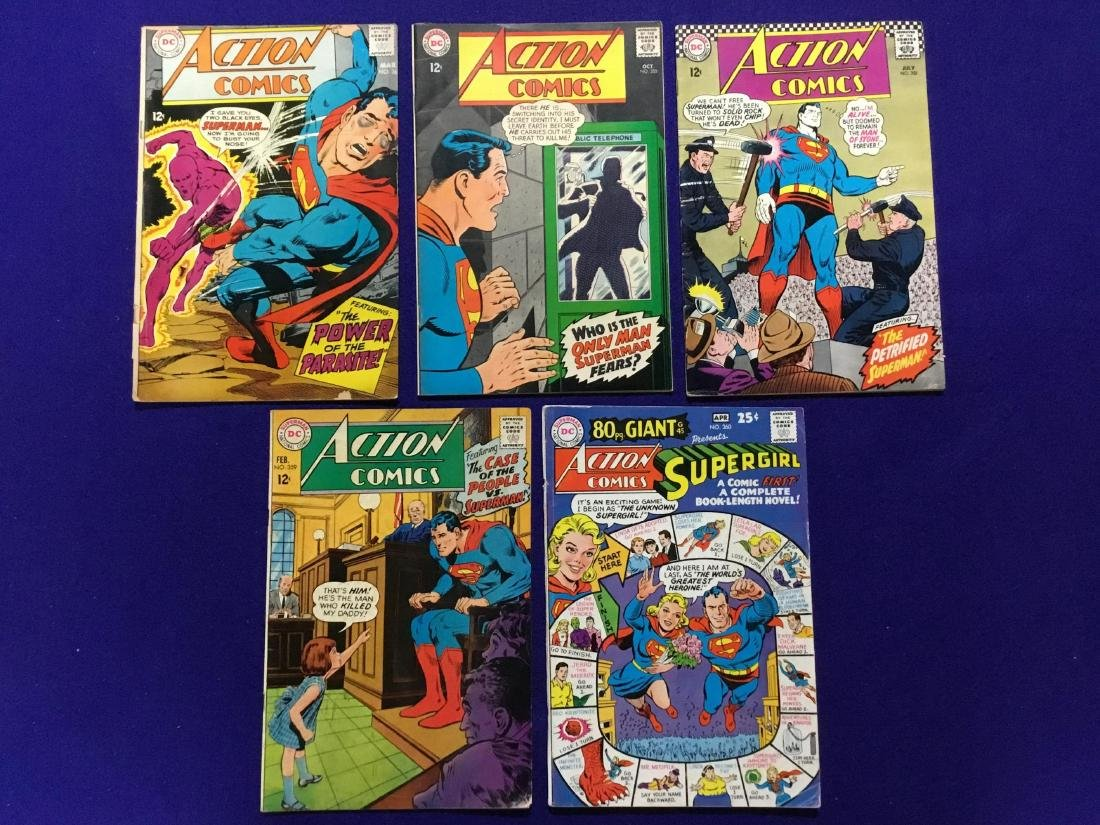 Lot of 5 Action Comics