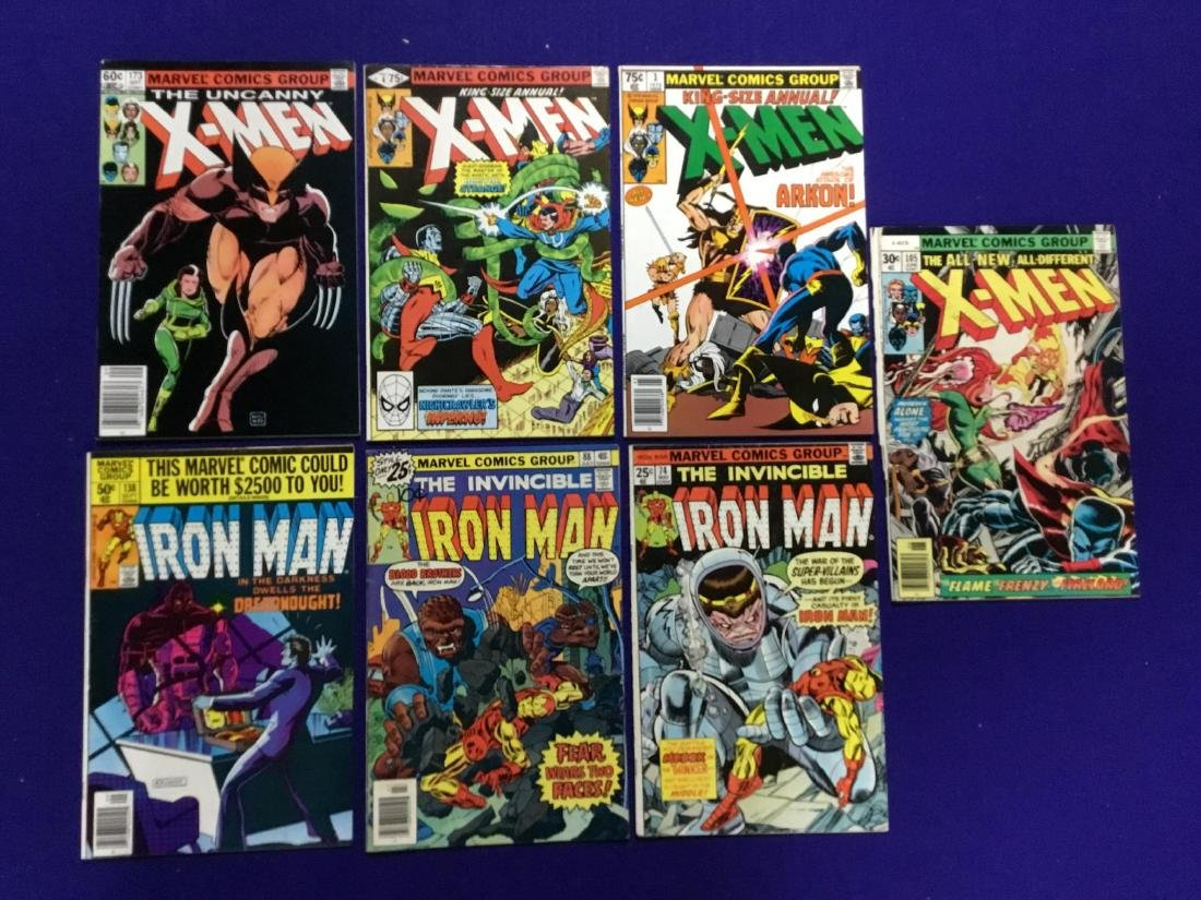 IronMan #74,88,138 X-Men #105,173 and Annual #3,4