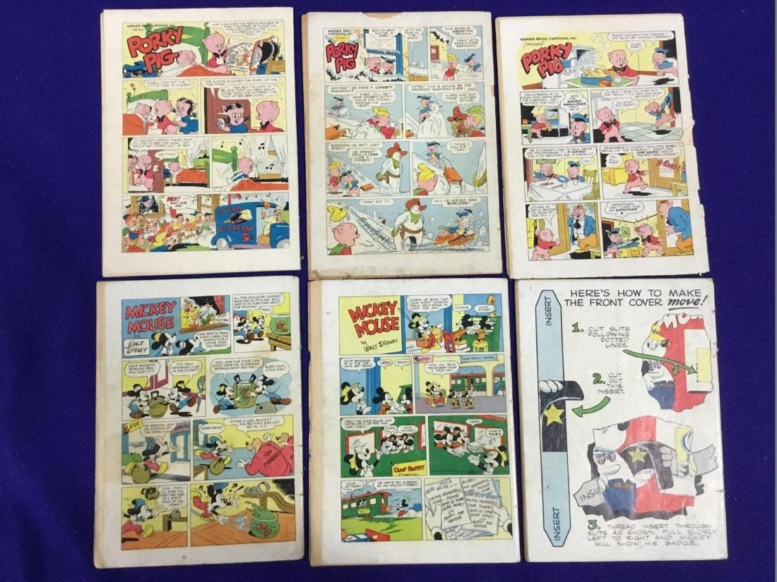 Lot of Six Dell Comics Porky Pig no. 399,32,226, Walt - 2