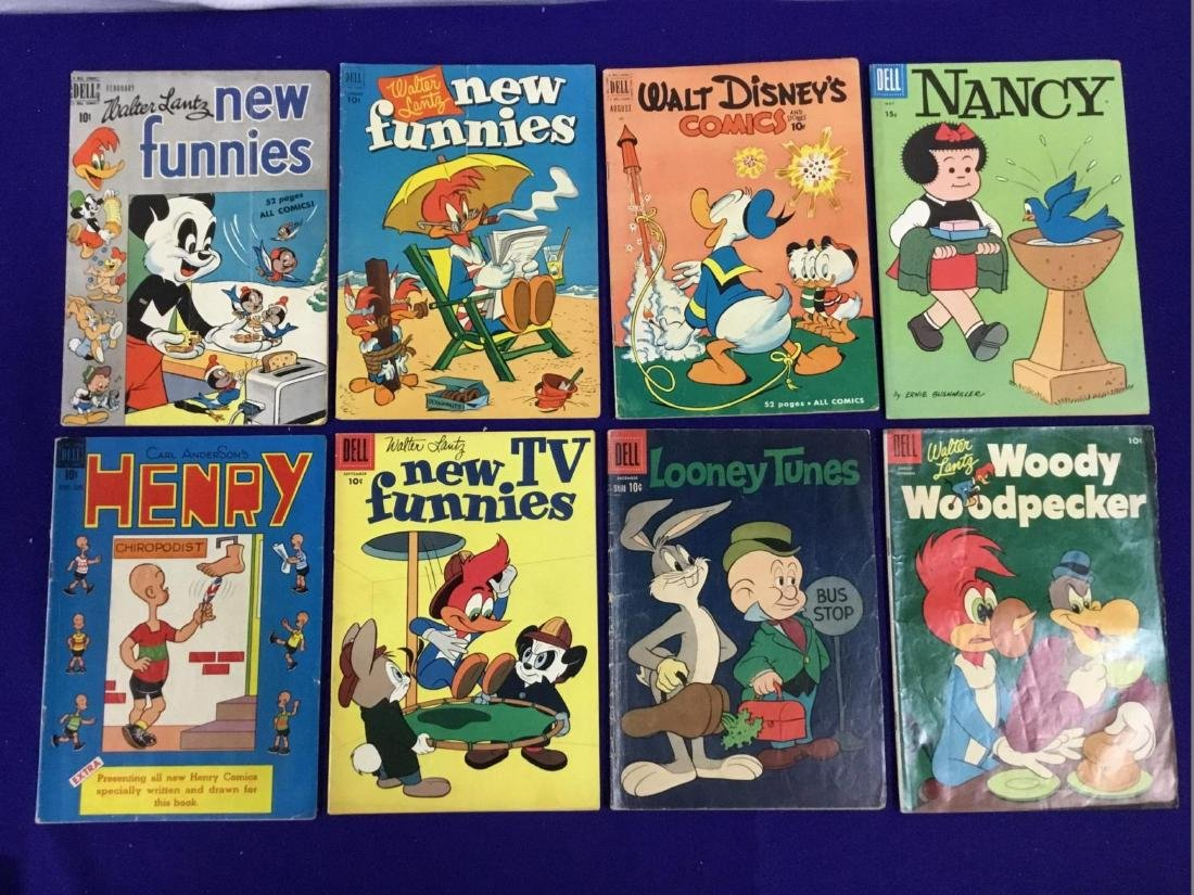 New Funnies no. 156,186,259, Walt Disney Comics no. 11,