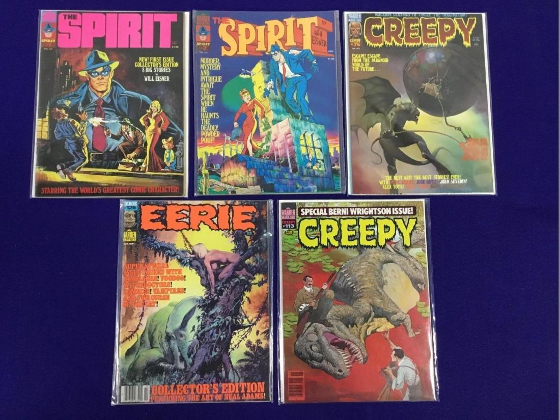 Creepy no. 75,113, Eerie no. 125, The Spirit no. 1,2
