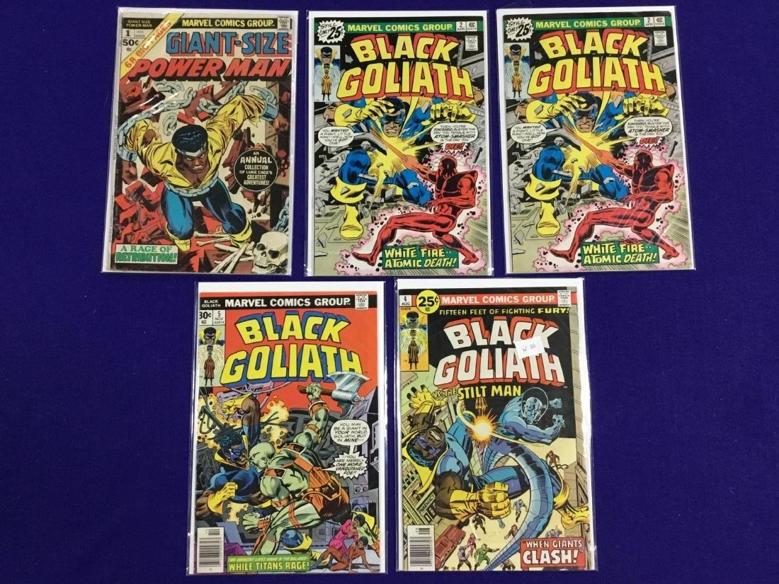 Giant Size Powerman #1, Black Goliath #2,2,4,5