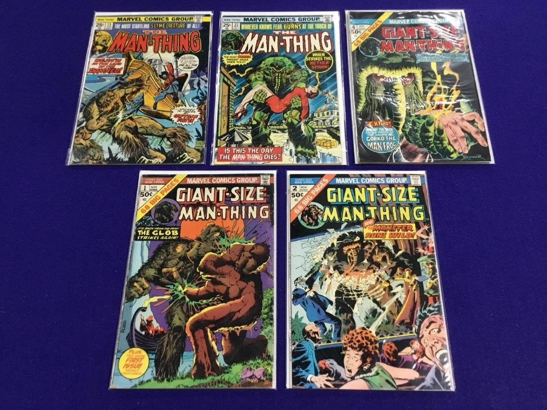 The Man Thing #13,22 and Giant Size #1,2,4